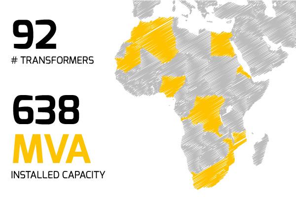Specialtrasfo presence in Africa
